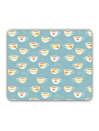 Madanyu Designer Mousepad Non-Slip Rubber Base for Gamers - HD Print - Cup of Tea Pattern