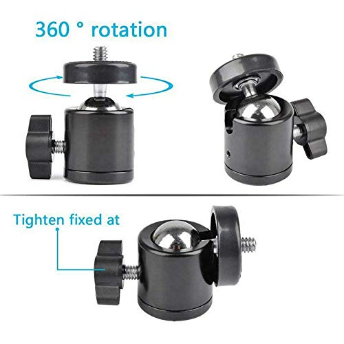 ELECTROPRIME 1X(Super Clamp Mount Articulated Ball Head 1/4inch-20 Thread Hole Head and F7R5
