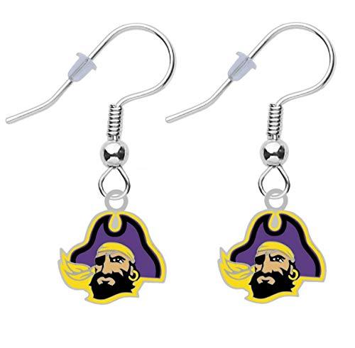 Final Touch Gifts University of East Carolina Logo Earrings Pierced