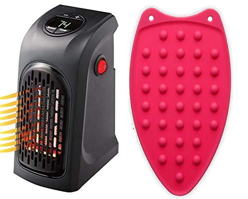 ZUNBELLA Mini Heater Compact Plug-In Portable Digital Electric Heater and Flexible Silicone Iron pad