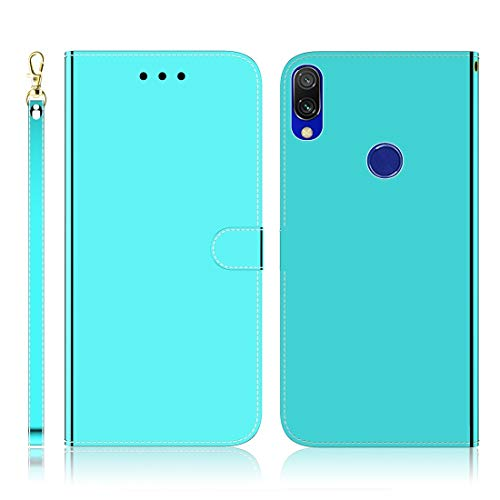 TANNGDIFNJAUN New Mobile Phones Covers for Xiaomi Redmi 7 / Y3 Imitated Mirror Surface Horizontal Flip Leather Case with Holder & Card Slots & Wallet & Lanyard Phone Shell