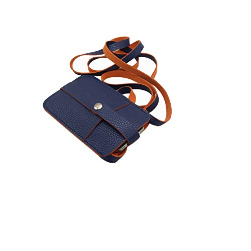 Essart Faux Leather I-Phone Pouch-Blue