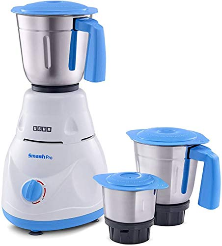 Usha Smash Pro Mixer Grinder, 500W (Multicolor)