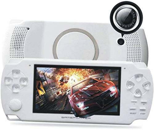 Oyrl PSP Game Console with 10000 Games, Music, Alarm, Calculator, Camera, SD Card Slot- White