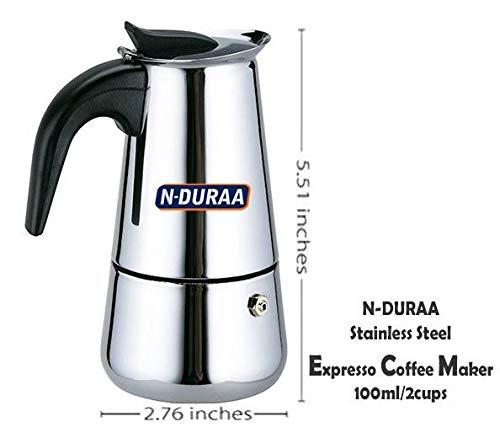 N-Duraa Coffee Perculator Stainless Steel 2 Cup