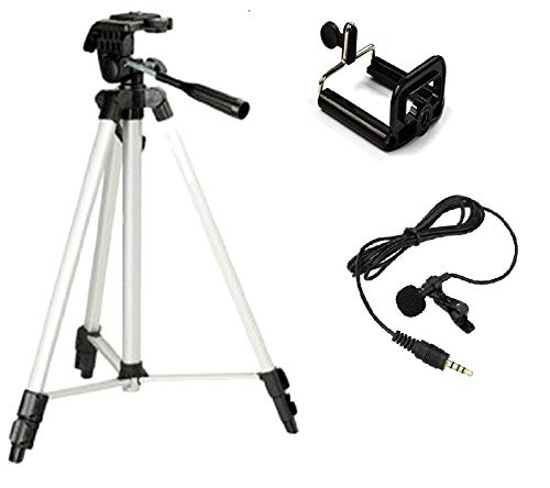 Simpex 333 Combo Tripod with Mobile Holder and Microphone