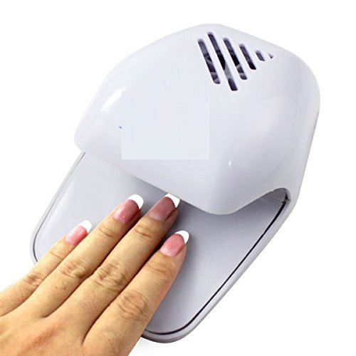 SNAPCOM Electric Wind Automatic Pressure Activates Nail Dryer White Tip Fan