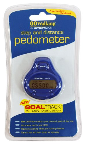 GO WALKING 340 STEP DISTANCE GOAL TRACK PEDOMETER BLUE