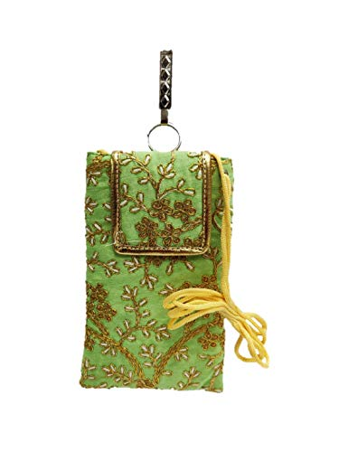 STYLO G Women's Mobile Cover for big mobile phones with Purse Pocket and Sari Hook-TURQUOISE