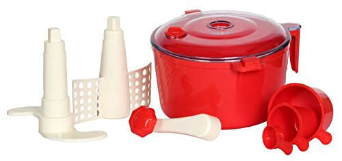 KH Enterprise 2 in 1 ABS Plastic Atta/Dough Maker with Chop and Churn, 6 in, Colour (Multi)