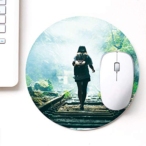 DASM United UVDesigner Printed Round Mouse Pad for Laptop n Computer | GILR Walking | Mousepad for Gamers | Gaming Mousepad