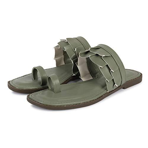 Fashimo Fashion Heel Sandal For Womens And Girls BOB02-Olive-38