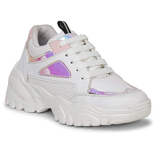 FASHIMO Fashion & Stylish Walking Sneakers Shoes for Women's and Girls 1604-White-36