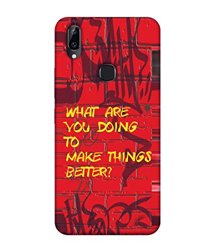 S SMARTY Red Wall Printed Hard Case Mobile Back Cover for Vivo Y83 Pro