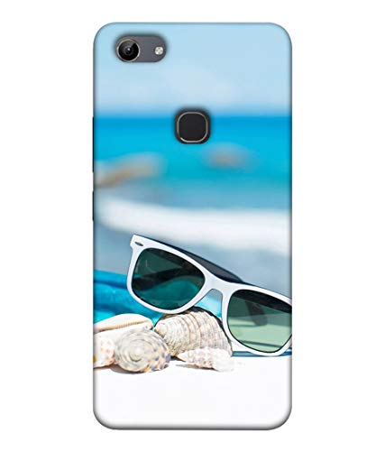 S SMARTY Goggle on Beach Printed Hard Case Mobile Back Cover for Vivo Y81