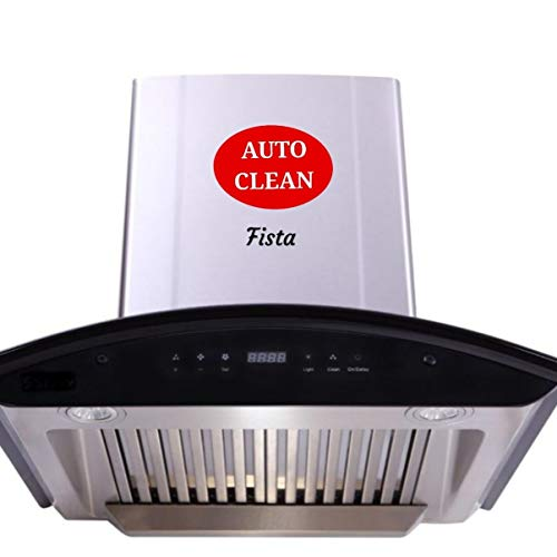 Generic Fista Appliances Sigma Auto Clean Kitchen Chimney 60/90 cm model Packed with Metal Blower and high capacity motor gives a powerful suction of 1250 m3/hr. Hood Orient comes with assurance of easy maintain and ease to use, wherein you do not need to spend more time in Chimney cleaning process. It comes with Touch Control panel. Fista Kitchen Chimney is perfect combination of performance, looks and technology.