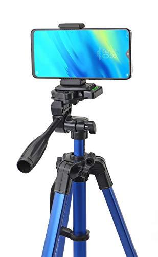 Simpex Camera Tripod 6633 with Mobile Holder Bracket for Smartphones, DSLR and Cameras (Blue)