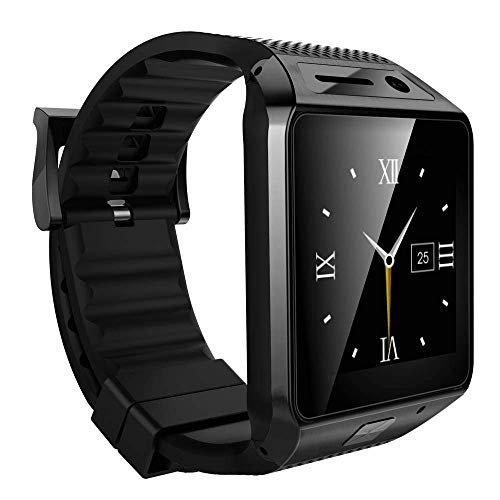 Jiyanshi Xiaomi Redmi 5A Compatible with M9 Smart Watch Bluetooth with Sim Slot/Memory Card Slot/Camera/Calling Function/Touch Screen for All Anroid iOS Apple Smart Phones(Black)