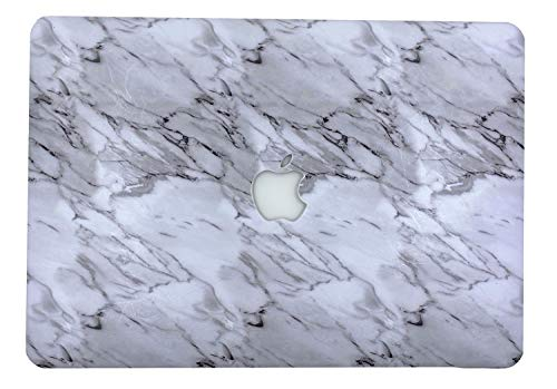"""24x7 eMall Rubberized Hard Shell Cover Compatible Old MacBook Air 13"""" (2010-2017 Release) (13 Inch Air (Old Version), White Marble)"""