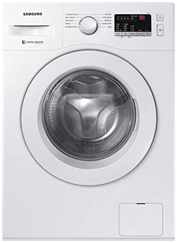 Samsung 6.0 Kg Inverter 5 star Fully-Automatic Front Loading Washing Machine (WW61R20GLMW/TL, White, Hygiene steam)