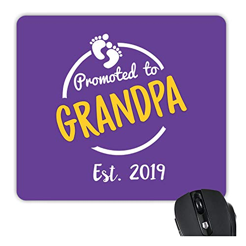 TheYaYaCafe Yaya Cafe Promoted to Grandpa Est 2019 Printed Mousepad for Grandfather