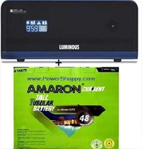 Shiv Shakthi Amaron/Luminous Cr 150 Tt Zelio 1100 (Ultra Low Maintenance Combo)