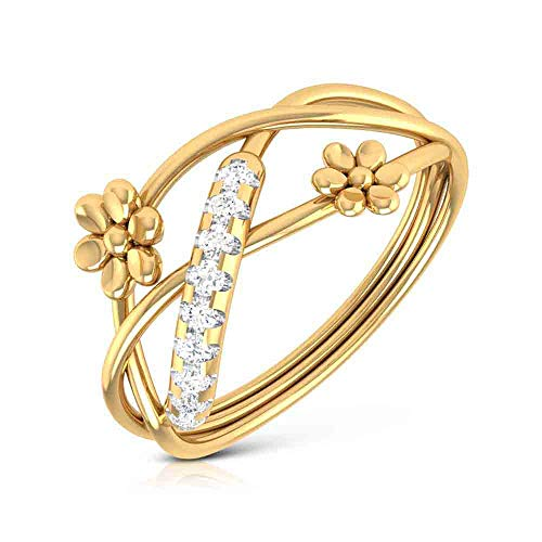 Vaibhav Jewellers 18K Gold and Diamond Ring for Women