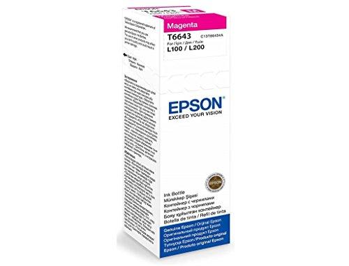 Epson T6643 C13T664398 L100 Magenta Ink Bottle