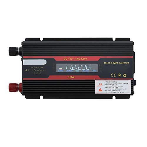 KKmoon Intelligent Solar Power Car Inverter Modified Sinewave Converter with LCD Display