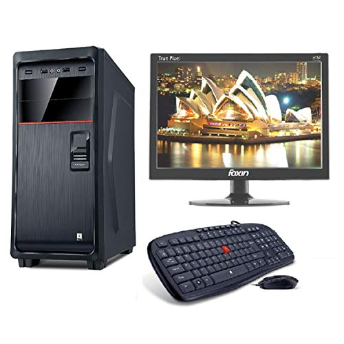 LappyPie Certified and Assembled Axton 15.4 inch LED Monitor Desktop Computers with (Axton Intel Core i3, 3rd Generation 120 GB SSD 4 GB DDR3 RAM | Wired Keyboard and Mouse | 1000 GB Hard Drive