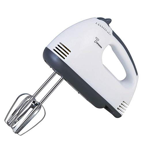 Torie Hand Mixer Blender Easy Mix-200W with 7 Speed Control and Detachable Stainless-Steel Finish Beater and Whisker with in-Built Eject Knob and Slim Grip for Cakes