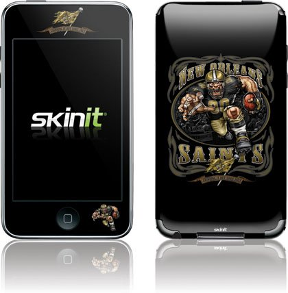 Skinit Protective Skin foriPod Touch 2G, iPod, iTouch 2G (Illustrated New Orleans Saint Running Back)