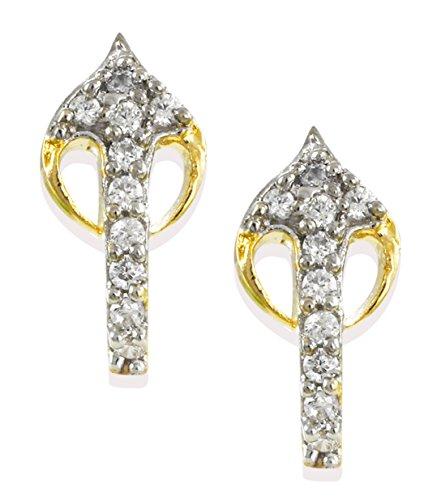 Zaveri Pearls Delicate Cubic Zirconia Stud Earring For Women - ZPFK6224