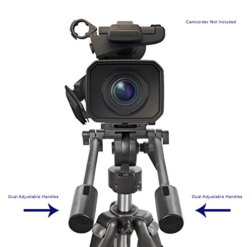 "Digital Nc Professional Dual Handle Aluminum 67"" Tripod for Sony Handycam DCR-DVD305 (Bubble Level)"