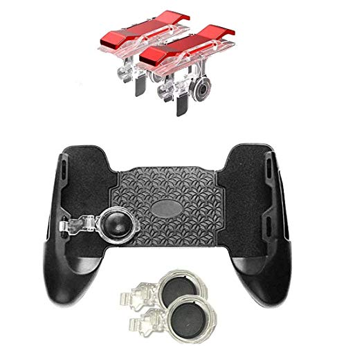 King Shine Mobile Gamepad Controller Grip Case Handle Mobile Holder Joystick with PUBG Trigger Button Compatible for Android iOS Phones