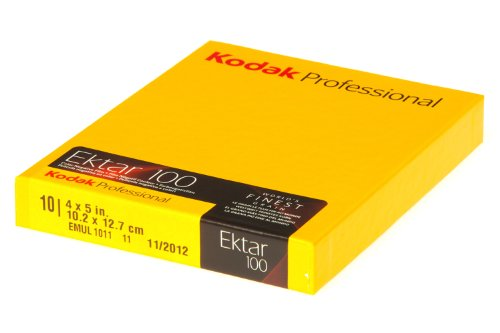 Kodak 158 7484 Professional Ektar Color Negative Film ISO 100, 4 x 5 Inches, 10 Sheets (Yellow)