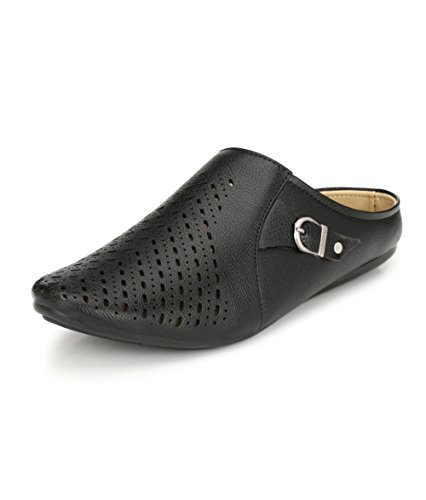 SHOE DAY Men's Back Open Sandal 9 Black