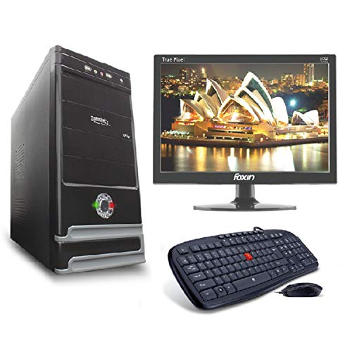 LappyPie Certified and Assembled 15.4 inch LED Monitor Desktop Computers with Daze Intel Core i3 120 GB SSD 4 GB DDR3 RAM | Wired Keyboard and Mouse | 320 GB Hard Drive