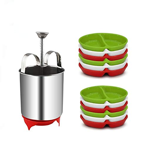 Track India Combo of Stainless Steel Menduwada Maker with 12 PCS Chatani Plates