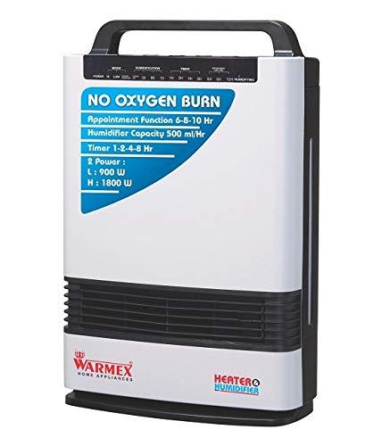 Warmex 980/1800 Watts Heater & Humidifier Room Heater H&H (Black & White)