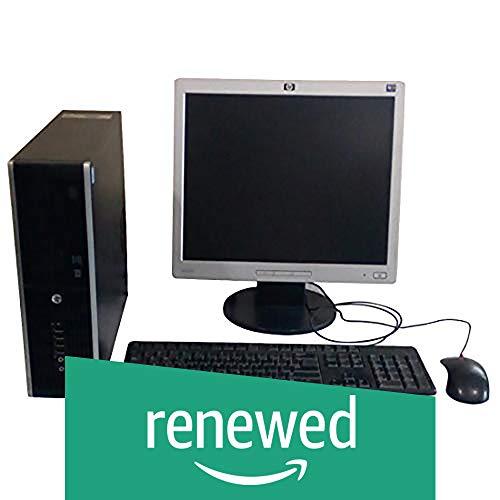 (Renewed) HP Elite 8200 Desktop with 17in LCD Monitor (Intel Core i5/4GB/500GB/Windows 10 Home),Black