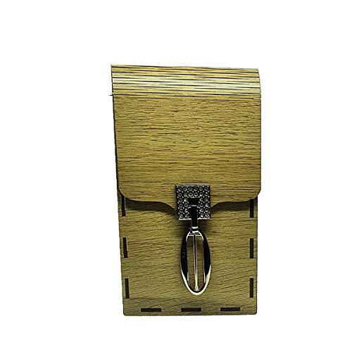 Arjey's Wooden Brown Verticle Sling Wooden Mobile Cover (Clutches_006_Brown)