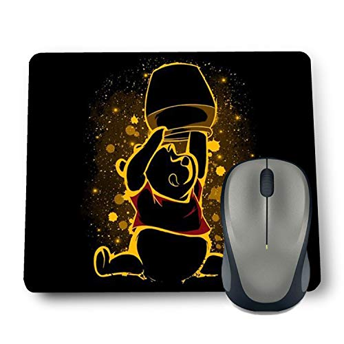 Shop-buz Printed Non Slip Rubber Designer Mouse Pads Cartoon/Girls (220 mm x 180 mm x 3 mm) Multicolor (Winnie-The-Pooh)