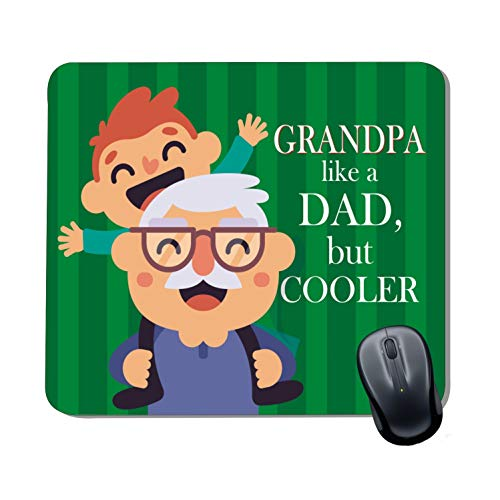 Family Shoping Grandpa Like a Dad But Cooler Printed Mousepad for Grandad Special Computer System Pc