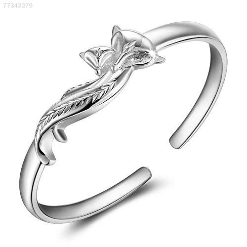 ELECTROPRIME 41EB Fox Bracelet Silvery Alloy Women Jewelry Elegant Accessories Lady Bangle