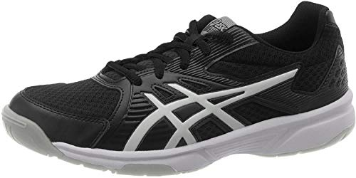 ASICS Men's Upcourt 3 Black/Pure Silver Badminton Shoe-8 UK (1071A019.005)