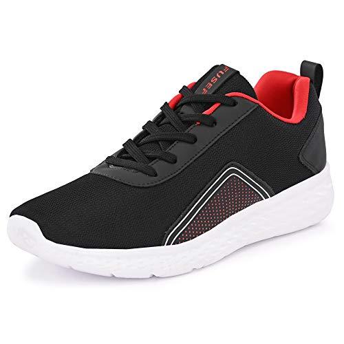 Fusefit Men's Scorpius Black Running Shoes-7 UK (41 EU) (8 US) (FFR-352_7)