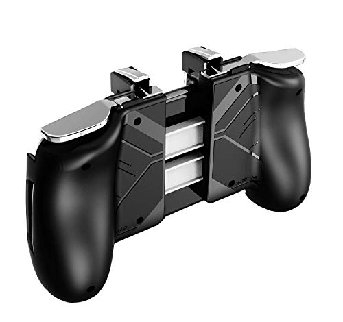 """Taj Decor Game Controller for PUBG Mobile Controller L1R1 Mobile Game Trigger Joystick Gamepad for 4-6.5"""" iOS & Android Phone"""