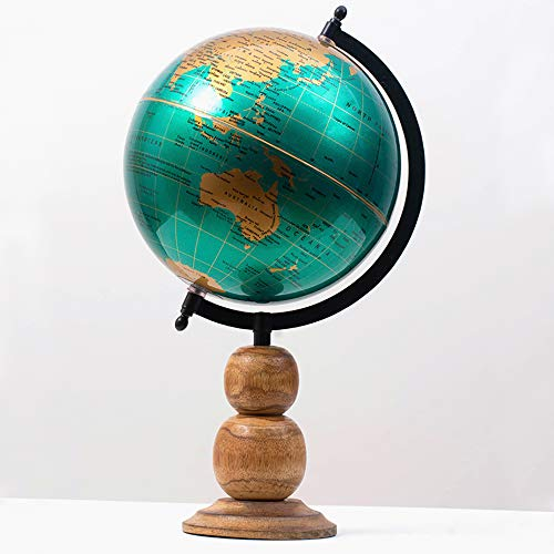 "CASADECOR Phoenix Sea World Globe for Home & Office Decor | 8"" Desktop Globe with Wooden Stand"