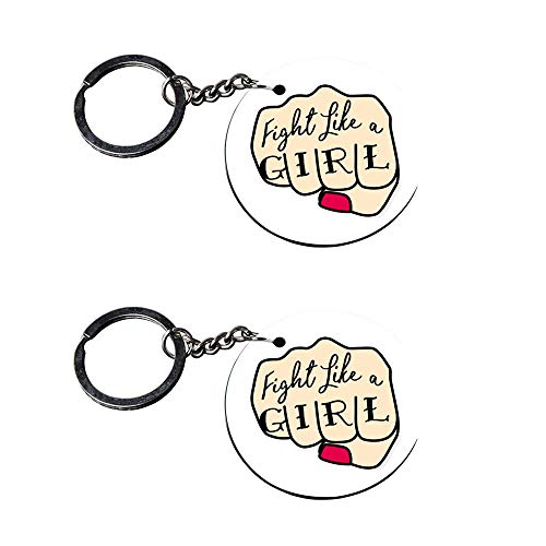 Anuman007 | Keychain for Girls Stylish | Keychain for Phone case Printed Wooden Keychains | Circle Shape Set of 2 keyrings 2x2 inch